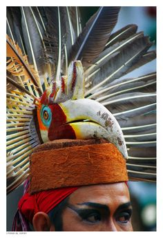 Dayak man's headdress | beingindonesian.tumblr.com
