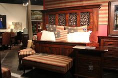 Tuscan and patriotic all in one! Bedroom Sets, Bedding Sets, Las Vegas Furniture Market, Respect The Flag, Clean Bed, Home Trends, Home Furnishings, Gallery, House