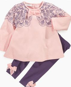 First Impressions Baby Set, Baby Girls Tunic and Leggings - Kids Baby Girl (0-24 months) - Macy's