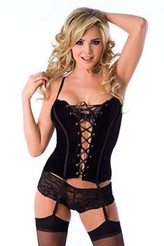 5685d055dc455 Velvet Kitten Seductive Velvet Corset in Black - Large Velvet Kitten