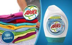 Bénéficiez pour votre linge d'une propreté éclatante et d'une fraicheur longue durée avec ce bon d'achat de 30€ à 6€ à valoir sur un lot de 6 lessives Ariel Gel Febreze 20 doses, soit 120 doses !