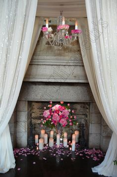 Chandelier Hanging from Ceremony Arch by Sharon Elizabeth's