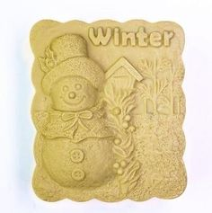Winter Craft Art Silicone Soap mold Craft Molds DIY Handmade soap molds
