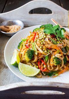 vegan pad thai lunch