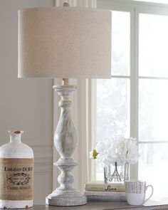 Bernadate - Whitewash - Poly Table Lamp by Signature Design by Ashley. Get your Bernadate - Whitewash - Poly Table Lamp at American Furniture, Brooklyn Park MN furniture store. French Country Decorating, Decor, Table Lamp Sets, White Wash, Table Lamp, Lamp Sets, Rustic Lamps, Home Decor, Farmhouse Lamps