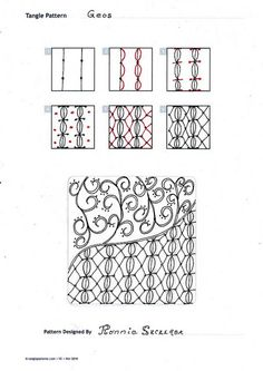 Zentangle Pattern - Geo | Flickr – Compartilhamento de fotos!