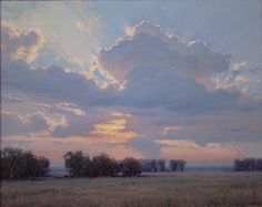 Looking West by Bruce Peil Oil ~ 24 x 30