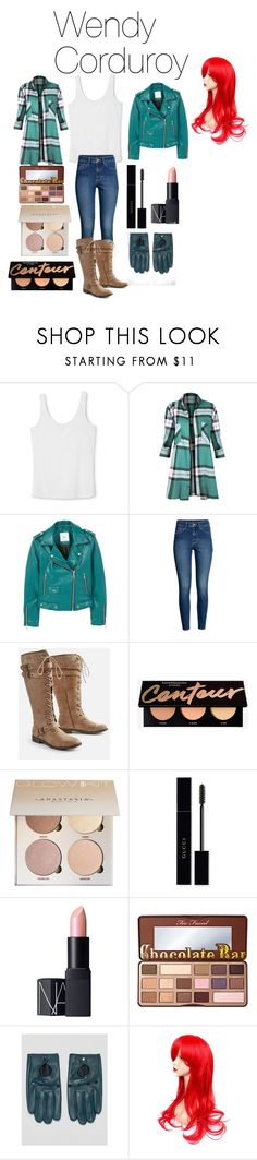 """""""Wendy Corduroy from Disney's Gravity Falls"""" by tori-camilleri on Polyvore featuring MANGO, H&M, JustFab, Gucci, NARS Cosmetics, Too Faced Cosmetics and ASOS"""