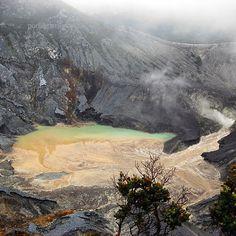 Ratu Crater of Mount Tangkuban Parahu, West Java, Indonesia