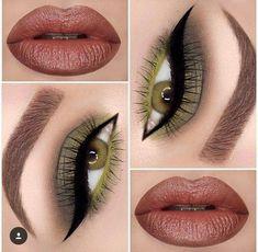 Love the multitone green eye makeup #gorgeousmakeupforgreen #gorgeouseyemakeup