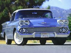 1958 Chevrolet Bel-Air Coupe #ClassicCars #CTins #Chevy