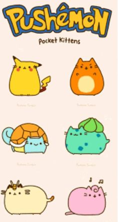 What's better than pusheen and Pokemon? A combination of pusheen and pokemon. Kawaii Drawings, Cute Drawings, Chat Pusheen, Chibi, O Pokemon, Pokemon Stuff, Pokemon Jigglypuff, Pokemon Photo, Pikachu Art