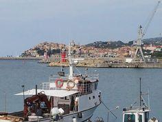Porto Maurizio vecchio.... vista dal porto di Oneglia Imperia Liguria Italy