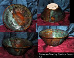 Stoneware glaze blending.