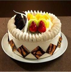 European style fruit cream cake