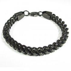 Fiche produit de la gourmette tressée noire Bracelet Cordon, Miami, Bracelets, Men, Jewelry, Lifestyle, Fashion, Big Jewelry, Male Jewelry