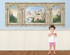 Enchanted Castle Easy Up Mural - Wall Sticker Outlet ???