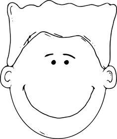 Manface Outline clip art - vector clip art online, royalty free ...