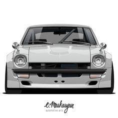Nissan GTR vector print on Behance