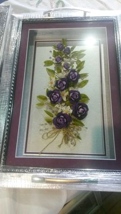 Diy Flowers, Quilling, Ribbon, Crafty, Embroidery, Floral, Home Decor, Cold, Trays
