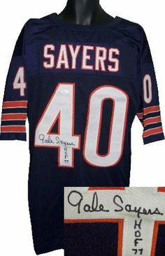 2387b2ee3 Gale Sayers Autographed Hand Signed Chicago Bears Navy Prostyle Jersey HOF  77- JSA Hologram