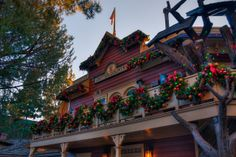 Critter Country is an especially cozy place at Christmastime with its rustic charm. It's also a great place for some delicious treats any time. Grizzly Peak, Disneyland Photography, Disneyland Resort, Disney Christmas, Country Christmas, Vintage Disney, Vintage Photographs, Big And Beautiful, Disney Parks