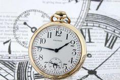 10K Yellow Gold filled Waltham Pocket watch