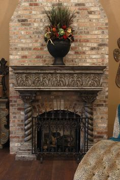 This is a custom made mantel that is in the home of Mrs. Jacquelyn Cain.  The Koenig Collection only offers high quality furnishings and decor. Each piece is available in a variety of finishes and may be customized to fit your individual needs. Come visit us for an alluring experience!