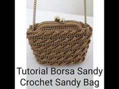 Tutorial : Sandy crochet bag - uncinetto - how to crochet a bag Crochet Scarf Diagram, Crochet Lace Scarf, Crotchet Bags, Crochet Shell Stitch, Crochet Clutch, Crochet Handbags, Crochet Purses, Crochet Basket Tutorial, Crochet Bag Tutorials