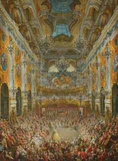 A Ball Given by the Duc of Nivernais to Mark the Birth of the Dauphin - Giovanni Paolo Panini