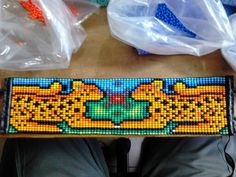 Jaguar, Native Beadwork, Beading, Jewelry, Design, Loom Bracelets, Fabrics, Necklaces, Beaded Crafts