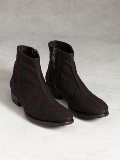 90d14b0e7d8 John Varvatos Men s Plaid Wool Ankle Boots