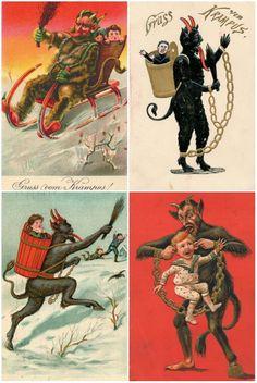 Krampus Austrian Empire, Christmas Printables, Art, Art Background, Christmas Images, Kunst, Performing Arts, Art Education Resources, Artworks