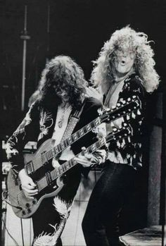 Jimmy Page y Robert Plant. Led Zeppelin