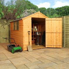 "Garden Sheds 6 X 2 6' x 2' 6"" pent tool log store shed wood garden sheds storage"