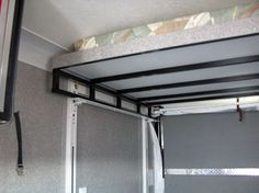 Happijack Power Bed Lift is easy to operate and will maximize space by lifiting up to two queen-size beds out of the way to make room for motorcycles or ATVs. Cargo Trailer Camper, Sprinter Camper, Truck Camper, Mercedes Sprinter, Mercedes Benz, Camper Beds, Diy Camper, Ducato Camper, Bed Lifts