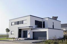 Bauhaus Flachdachhaus Bilder Referenzen NURDA Hausbau Hannover - BG-Bauhaus-Flachdachhaus