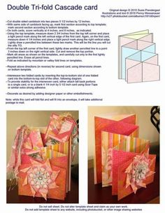 Double Tri-Fold Cascade Card Love this idea