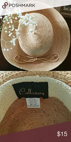 Straw Brim Hat Perfect summer straw Brim Hat with raffia accent. 100% raffia. PRICE FIRM UNLESS BUNDLED Callanan Accessories Hats