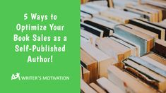 If you want to optimize the book sales for your work, you will need a well contrived book marketing campaign. Here are 5 Ways to get started. Marketing Process, Self Publishing, Search Engine Optimization, 5 Ways, Online Marketing, Authors, Books To Read, Writer, Motivation