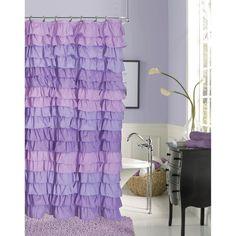 Dainty Home Venezia Ruffled Shower Curtain Purple - VENSCPU