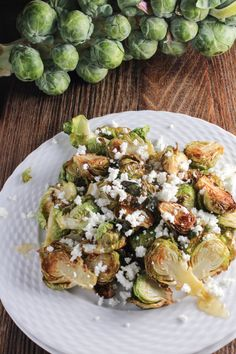 Crispy Brussels Sprouts with Goat Cheese and Honey