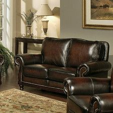 Barclay Leather Loveseat