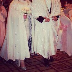 Camilia with her Algerian bridal barnous