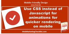 #CSS allows for quicker rendering on #Mobile #BestDamnBook