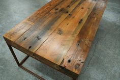 Beautiful furniture made from reclaimed wood--the impressive handywork and calling of Frederick Knight of Cartersville, GA