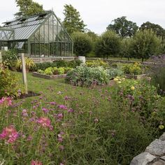 hoerr-schaudt-rhode-island  The greenhouse, surrounded by a vegetable and cutting garden, from Movement and Meaning: The Landscapes of Hoerr Schaudt.  Photo: Scott Shigley/Courtesy of The Monacelli Press #greenhousefarm