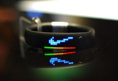 Nike Fuelband. Tracks your daily activities and calories burnt. Set a goal for the day and try to reach it!
