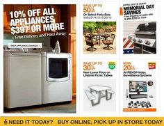 home depot memorial day coupon