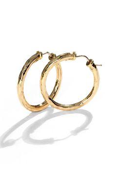 "Roberto Coin 18K Yellow Gold Hoop Earrings, 1¼"" #graduationgift"